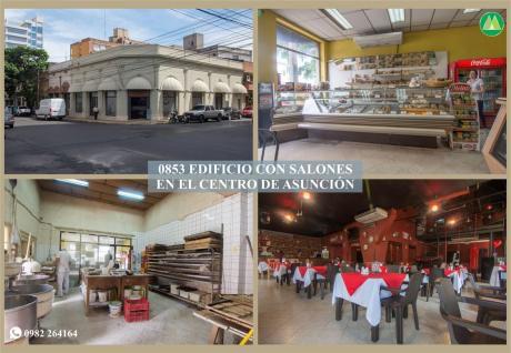 0853 Edificio Con Salones, Zona CÉntrica De AsunciÓn
