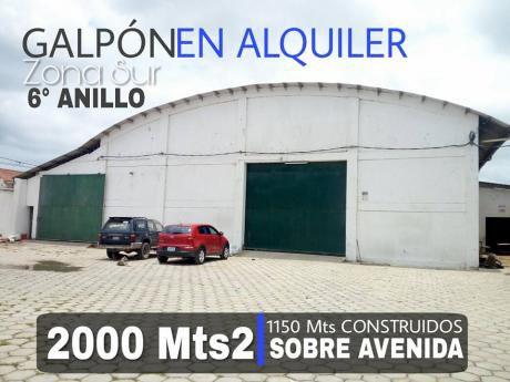 Galpon En Alquiler - 2000 Mt2