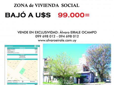 #terrreno  La Blanqueada Zona V.I.s.