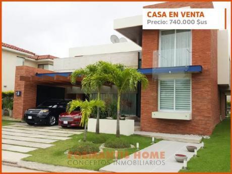 Bellisima Casa De Diseño Exclusivo En Colinas Del Urubo