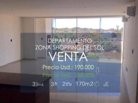 Vendo Departamento En Zona Shopping Del Sol!! A Estrenar!!