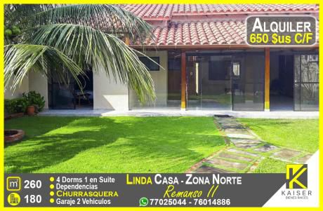 Linda Casa Con 4 Dormitorios Zona Norte