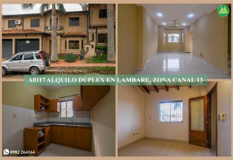 A0117 Alquilo Duplex En Lambare, Zona Canal 13