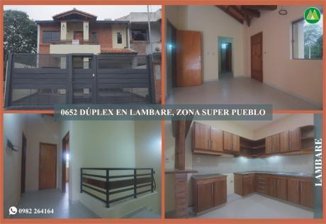0652 DÚplex A Estrenar En Lambare, Zona Super Pueblo