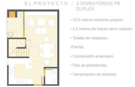 Tierra Inmobiliaria - Departamento Tipo Dúplex! 2 Dormitorios!!