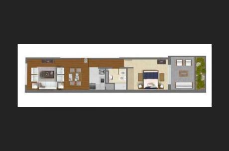 Front Park  -  Alquiler 1 Dormitorio  -  Garage Y Patio  -  Pocitos Nuevo