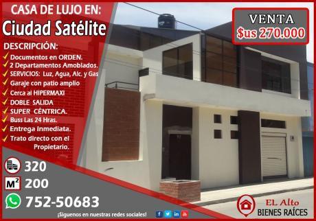 Por Ocasión Vendo Linda Casa En Ciudad Satelite A Precio De Remate