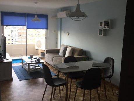 Apartamento Punta Carretas Dos Dormitorios Dos Baños Alquilo Amueblado