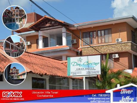 Hotel En Venta Zona Comercial (villa Tunari)