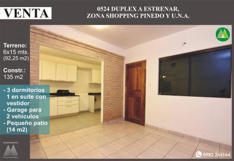0524 Duplex A Estrenar, Zona Shopping Pinedo