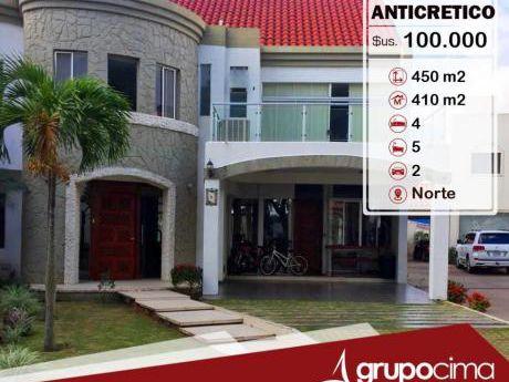 Amplia Y Lujosa Casa En Anticretico En Condominio La Hacienda 1