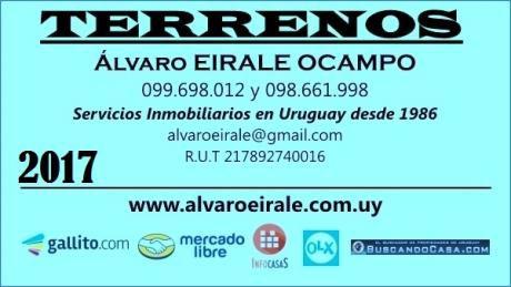 U120533 26.000=terreno<la Paloma>rocha  Zona La Serena  500 M2*
