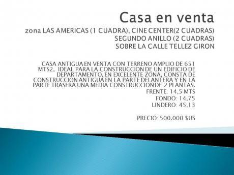 Casa En Venta Zona Las Americas