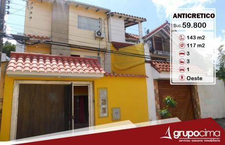 Casa En Anticretico Con Salon En Plata Baja !!