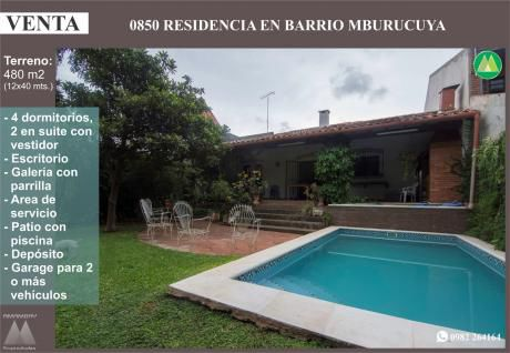 0850 Residencia En Barrio Mburucuya, Zona Centro Paraguayo Japones