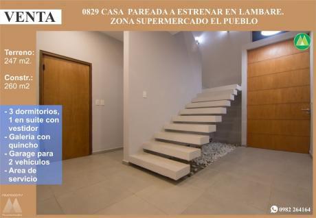 0829 Casa A Estrenar En Lambare, Zona Supermercado El Pueblo