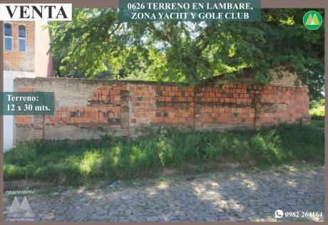 0626 Terreno En Lambare, Zona Yacht Y Golf Club