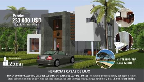 Condominio Exclusivo Del Urubo Hermosa Casa De 3 Suites