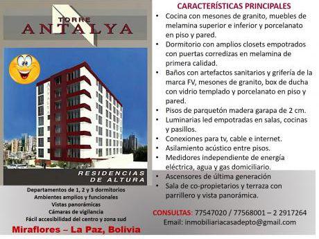 Departamentos En Venta, Miraflores, La Paz, Bolivia