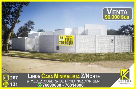 Linda Casa Minimalista Zona Norte