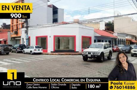 Céntrico Local Comercial Con Blindex A La Calle