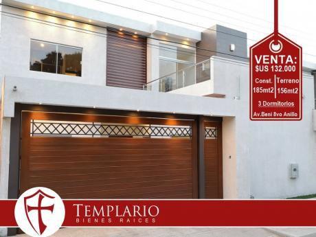 Av. Beni 8vo Anillo Hermosa Casa A Estrenar - Venta: $us 132.000$