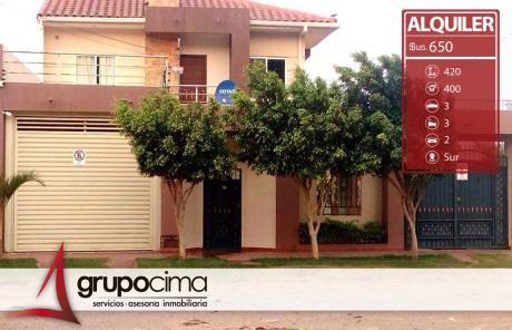 Amplia Casa En Alquiler En Zona Sur !!!