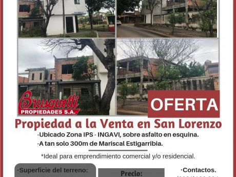 Vendo Propiedad En San Lorenzo!!