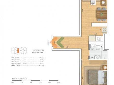Apartamento A Estrenar En Palermo. Edificio Estrellas Del Sur T25