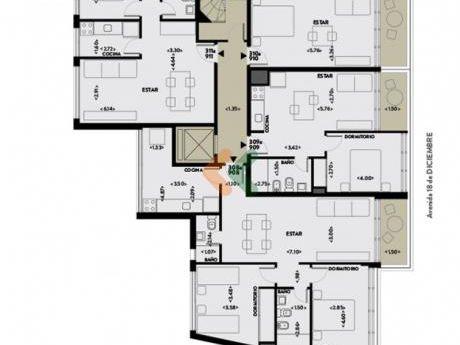 Apartamento 1 Dormitorio A Estrenar! Edificio Torre Arenas, Zona Malvin