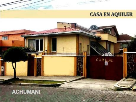 Casa En Alquiler - Zona Achumani