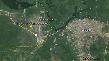 Terreno De 500m2 En Puerto Quijarro