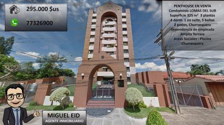 En Venta Penthouse En Condominio Lomas Del Sur
