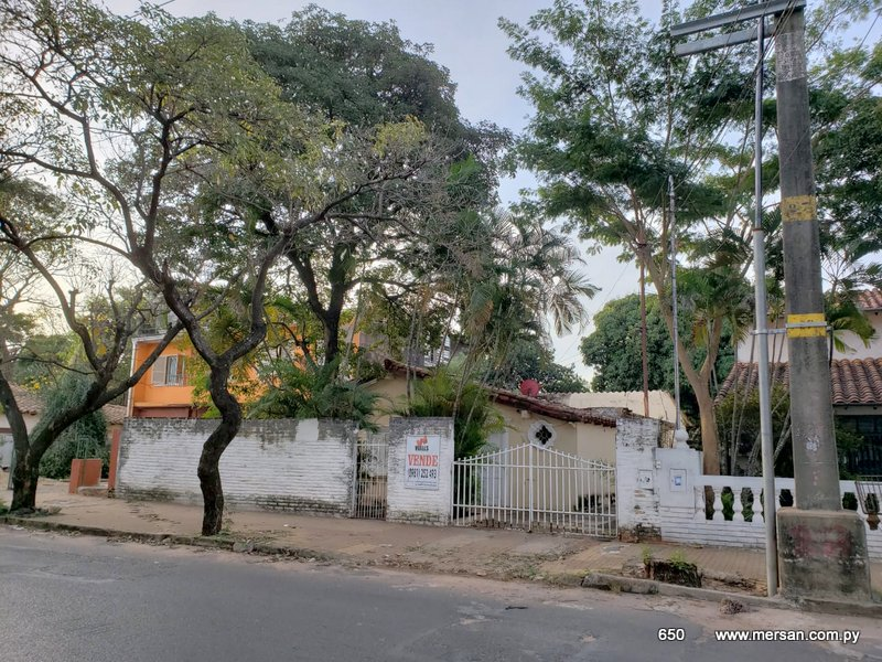 Terreno Amplio C/ Casa P/ Refaccionar Zona Wtc Asunción (CóD. 650)