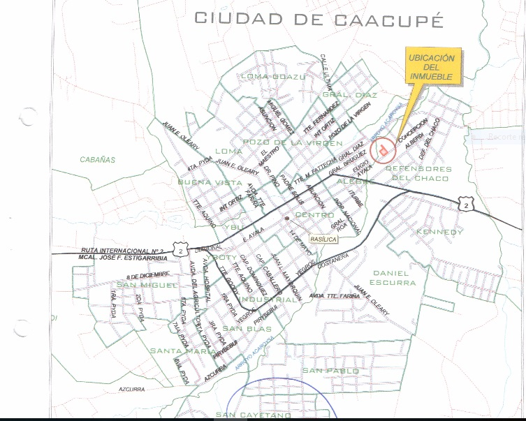 Venta Terreno Zona Centro Caacupe De 2.906 M2