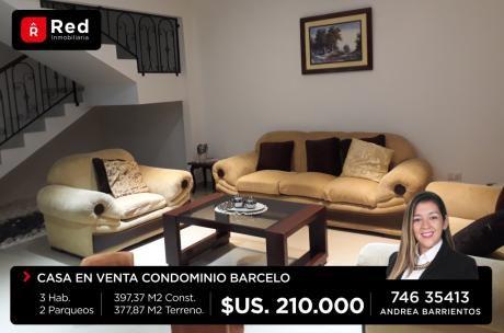 Amplia Casa En Condominio Barcelo