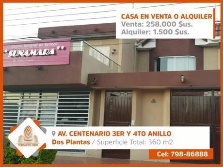 Bellisima Y Moderna Casa En Av. Centenario