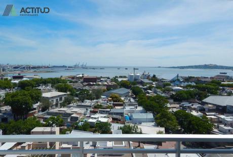 2 Dormitorios. Excelente Vista A La Bahía De Montevideo