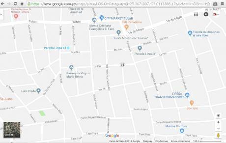 Vendo Terreno En Lambare Zona Colegio Sek / Parada Del 41