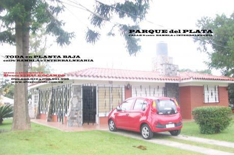 #casa En Esquina. Parque Del Plata.calle 9 Y G
