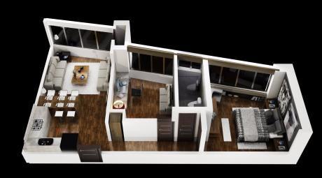 Un Dormitorio + Oficina A