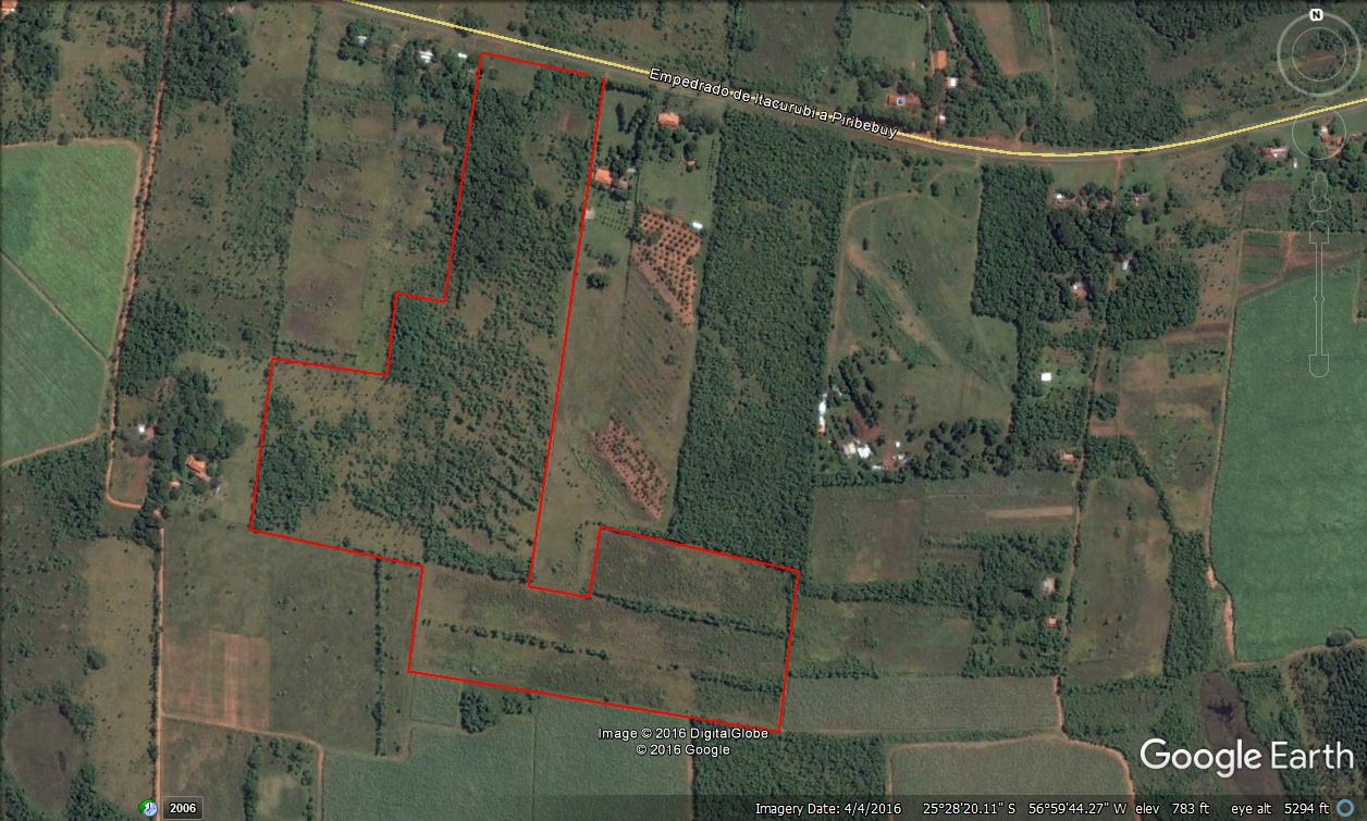 Terreno S/ruta Piribebuy Camino Que Une Con Valenzuela A 3 Km Del Cruce
