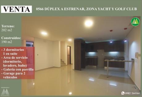 0566 Duplex A Estrenar, Zona Yacht Y Golf Club