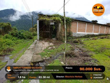 Terreno Agricola En Venta 18.000 M2 Zona Paracti Prximo Carretera