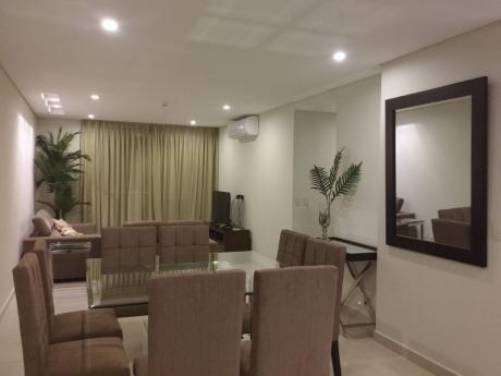 Alquilo Dpto Amoblado / Zona 4 D - Villa Morra / 2 Dormitorios En Suite