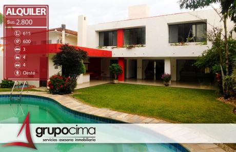Amplia Y Lujosa Casa En Alquiler En Las Palmas !!