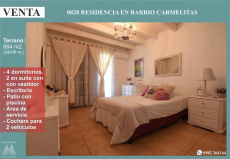 0828 Residencia En Barrio Las Carmelitas