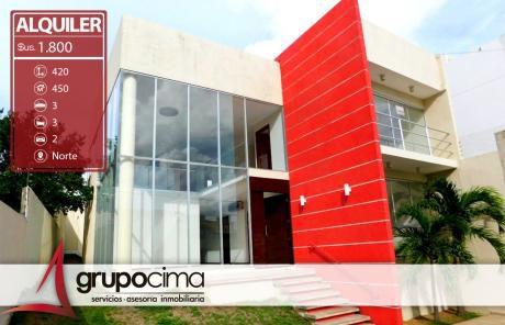 Amplia Y Casa En Alquiler En Equipetrol !!!