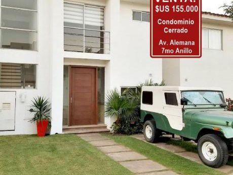 Bella Casa En Condominio Cerrado En 155.000$us Av. Alemana 7mo Anillo