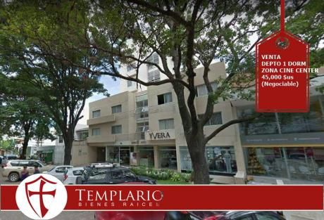 Venta.- 45,000 $us Depto 1 Dorm Totalmente Amoblado Zona Cine Center